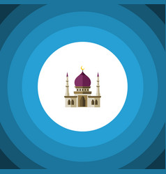 Isolated muslim flat icon traditional vector