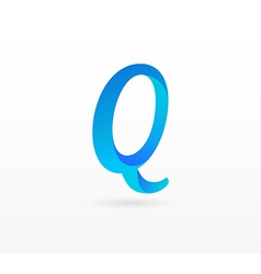Leller Q on white background vector image vector image