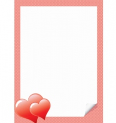 love letter template with hear vector image vector image