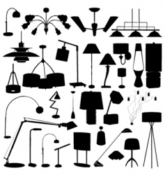 modern lighting vector image