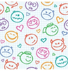 pattern of smiles vector image