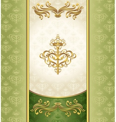 Royal Victorian background with seamless pattern vector image