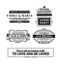 Wedding stamps version vector image vector image