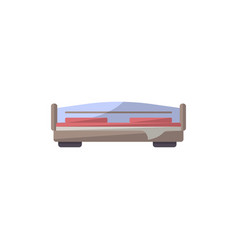 bed isolated icon in flat style vector image