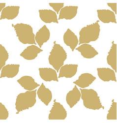 decorative leaf seamless pattern vector image