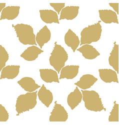 decorative leaf seamless pattern vector image vector image
