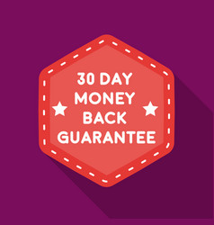 Money back guarantee icon in flat style isolated vector