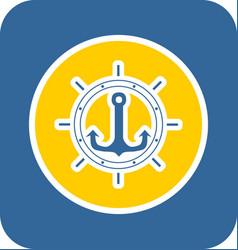 sea sticker icon vector image vector image