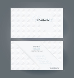 business card design with poligonal mosaic pattern vector image vector image