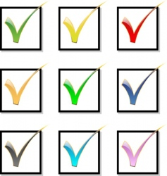 check mark icon set vector image vector image