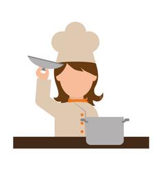 chef cartoon character vector image
