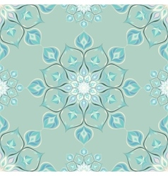 Colored mandala pattern with beautiful ornament vector image vector image