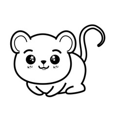 isolated cute mouse vector image vector image