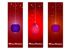Merry-christmas-banner vector
