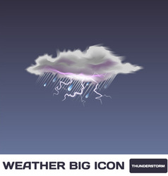 Thunderstorm Icon vector image vector image