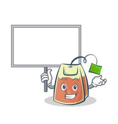 Bring board tea bag character cartoon vector