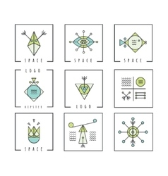 Line shapes geometry Alchemy religion vector image