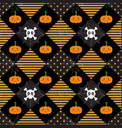 pattern halloween geometry vector image