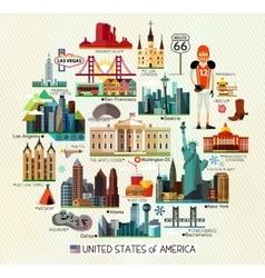 Usa travel map vector