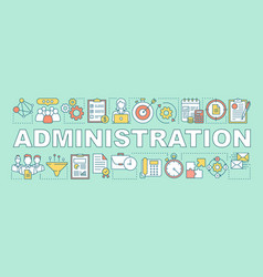 Administration word concepts banner business and vector