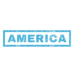 America Rubber Stamp vector image