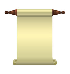 an empty scroll is an opened scroll unrolled vector image