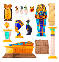 Ancient egypt cartoon set vector