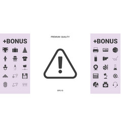 attention icon symbol - graphic elements for your vector image