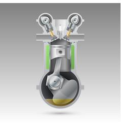 basic internal combustion engine vector image