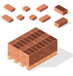 bricks on pallet vector image