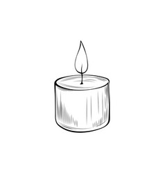 burning candle coloring book vector image