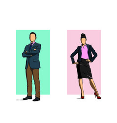 business people working in office character vector image