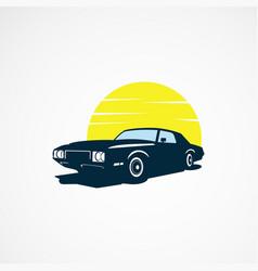 car sun logo designs concept for business vector image