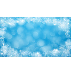christmas background with frame snowflakes vector image