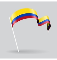 Colombian wavy flag vector