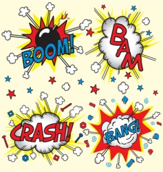 crash bam boom and bang vector image