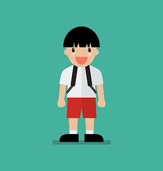 Cute cartoon boy vector image