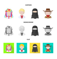 Design of imitator and resident icon set vector