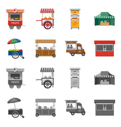 Design of market and exterior sign vector