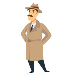 Detective secret agent man vector