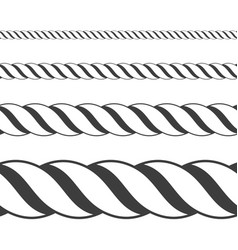 different twine black thickness rope vector image