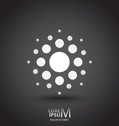 Dotted logo vector