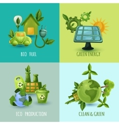 Ecology Design Concept Set vector image