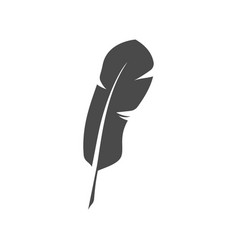 Feather symbol or sign vector