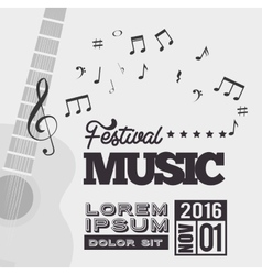 Festival music background guitar notes vector
