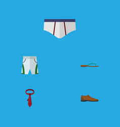 Flat icon garment set of underclothes male vector