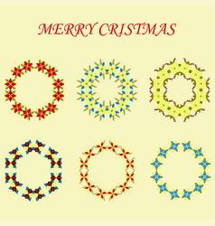 Floral or botanical christmas wreath vector