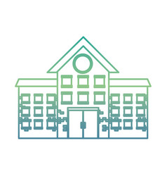 government building isolated icon vector image
