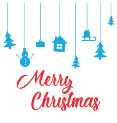 gretting with merry christmas and happy new year vector image