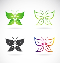 Group of butterfly design vector